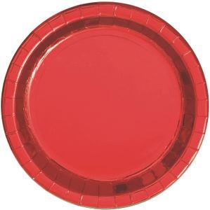 8 Papp Teller Hochglanz Rot – Bild 1