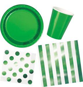 8 kleine Papp Teller Hochglanz Grün – Bild 2