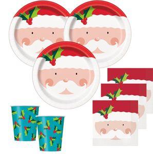 8 weihnachtliche Papp Teller Nikolaus – Bild 2