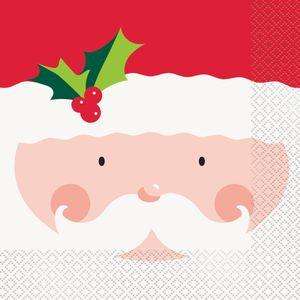 16 weihnachtliche Servietten Nikolaus