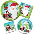 8 kleine Teller Weihnachtsmann und Pinguin
