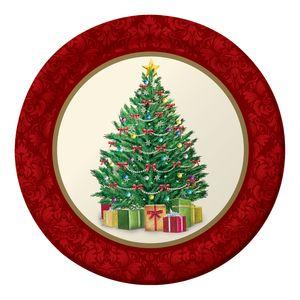 8 kleine Papp Teller perfekter Weihnachtsbaum