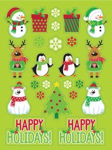 4 Bogen Weihnachts und Winter Sticker