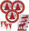 48 Teile Weihnachts oder Advents Deko Set Weihnachten Rustikal für 16 Personen