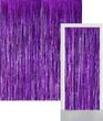 Glitzer Fransen Party Vorhang in Violett Metallic - Fotobox 2,4 Meter lang