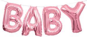 XXL DIY Baby Buchstaben Ballon Girlande in Rosa 2,74 Meter lang