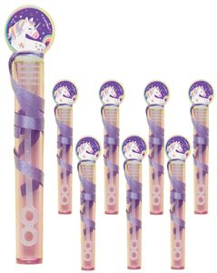 8 Einhorn Seifenblasen Röhrchen
