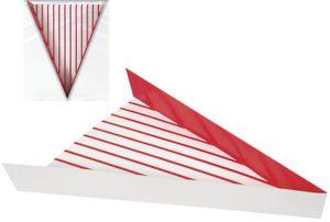 8 kleine Kartons für Pizza Stücke rot weiß gestreift 18x15 cm