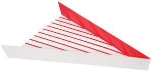 104 kleine Kartons für Pizza Stücke rot weiß gestreift 18x15 cm