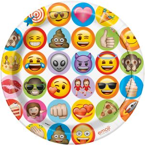 8 Papp Teller Emoji Fun – Bild 1