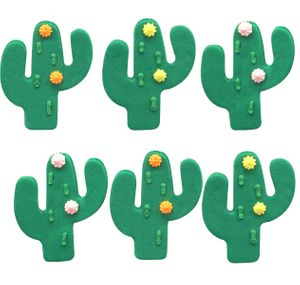 6 Zuckerfiguren grüner Kaktus – Bild 1