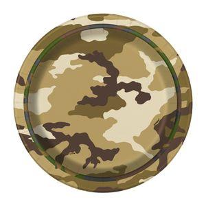 8 kleine Papp Teller Camouflage – Bild 1