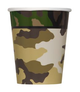8 Papp Becher Camouflage