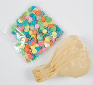 6 durchsichtige Luftballons mit buntem Konfetti Ø 30 cm – Bild 3