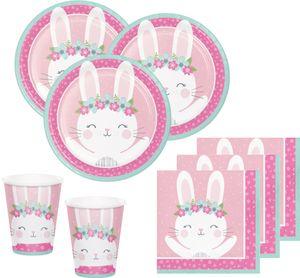 16 kleine Servietten rosa Häschen – Bild 4
