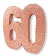 Deko Glitzer Zahl 60. Geburtstag RoseGold