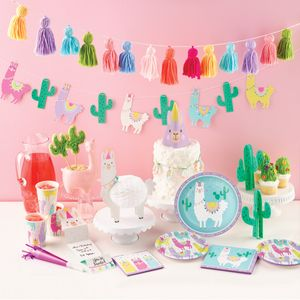 Folien Ballon bunte Lama Party – Bild 3