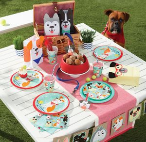 32 Teile Hunde Party Deko Basis Set für 8 Personen – Bild 5