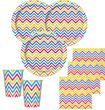 Folien Ballon ZickZack Streifen Regenbogen