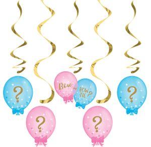 5 hängende Girlanden Babyparty Schleife oder Schlips? – Bild 1