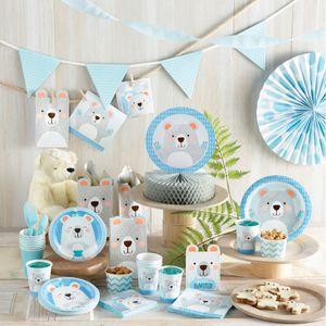 8 Einladungskarten Blaues Baby Bärchen – Bild 3