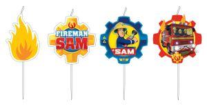 4 Kuchen Kerzen Feuerwehrmann Sam – Bild 1