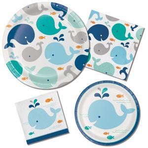 16 Servietten Happy Baby Wal Party Blau  – Bild 2