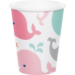 8 Papp Becher Happy Baby Wal Party Pink – Bild 1