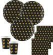 20 Servietten Micky Maus Retro Black + Gold