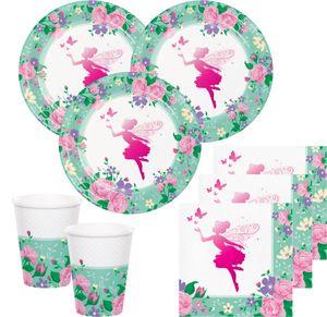 8 kleine folierte Papp Teller Blumen Fee – Bild 2