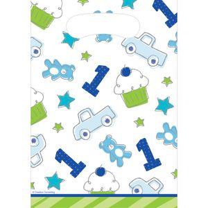 8 Party Tütchen Doodle in blau – Bild 1