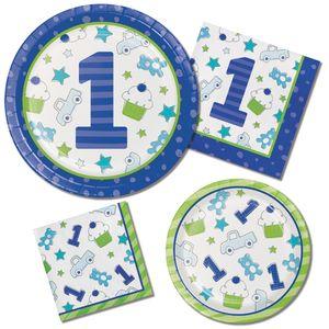 8 Party Tütchen Doodle in blau – Bild 2
