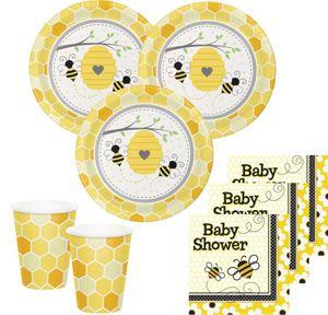 32 Teile Bienchen Sommer Babyshower Party Deko Set für 8 Personen – Bild 1