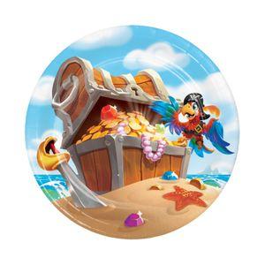 8 kleine Papp Teller Piraten auf der Schatzsuche – Bild 1