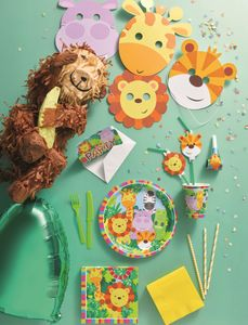 20 Servietten bunte Kinder Safari – Bild 3