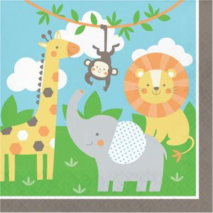 48 Teile kleine Dschungel Freunde Party Deko Set für 16 Kinder – Bild 4
