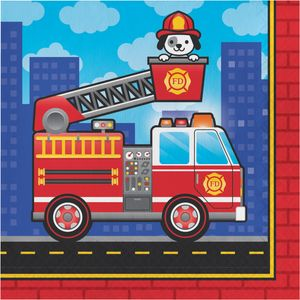 16 Servietten Feuerwehr Alarm – Bild 1