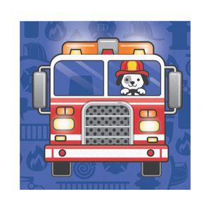 16 kleine Servietten Feuerwehr Alarm – Bild 1
