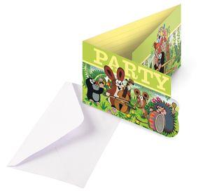 8 Einladungskarten Pauli der kleine Maulwurf – Bild 1