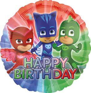 Geburtstags Folien Ballon PJ Masks Pyjamahelden – Bild 1