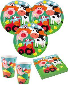 8 Party Tütchen lustige Bauernhof Tiere – Bild 2
