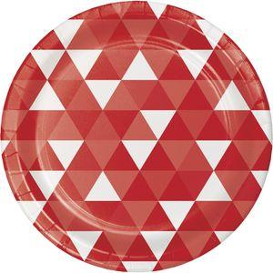 8 Papp Teller Fractals in Rot