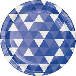 8 Papp Teller Fractals in Blau