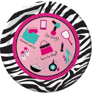 8 Papp Teller Pink Zebra