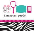 16 Servietten Pink Zebra Sleep Over