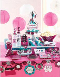 8 Party Tütchen Pink Zebra – Bild 3