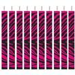 20 Kuchen Kerzen Pink Zebra