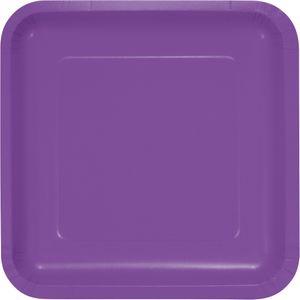 18 quadratische Papp Teller Amethyst – Bild 1