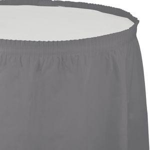 Plastik Tischrock Grau – Bild 1