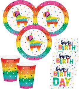 48 Teile buntes Fiesta Fun Party Geburtstags Set für 16 Personen – Bild 1